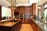 Modern Kitchen with Wooden Cabinets - Interior Design Kanata by BEAULIEU DESIGN