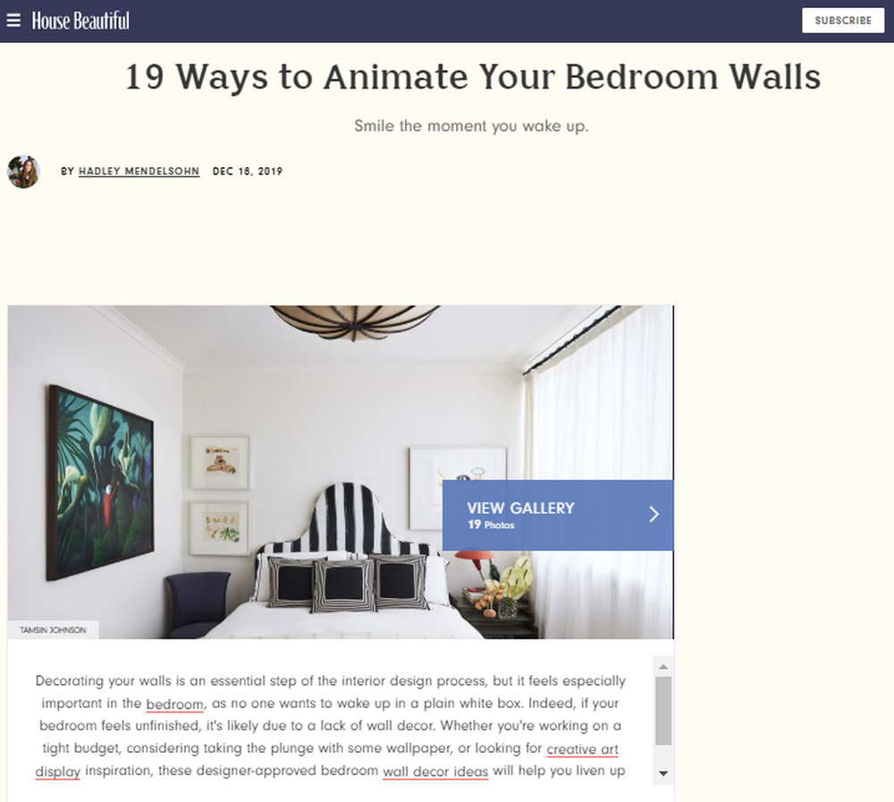 19 Best Bedroom Wall Decor Ideas in 2020 - Bedroom Wall Decor Inspiration (1).png