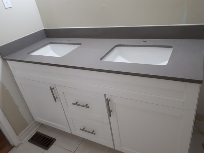 Double Bowl Kitchen Sink - Residential Renovation Cobourg by PCM Inc.