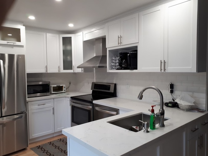 White Kitchen with Cabinets - Kitchen Renovation Services Ajax by PCMINC
