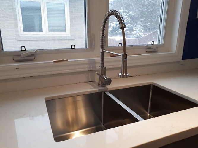 Double Bowl Kitchen Sink - Residential Renovation Port Perry by PCM Inc.