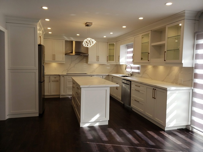 Modern Kitchen Renovation - Flooring Services Lindsay by PCM Inc.