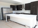 Black Cabinets with Countertop - Modular Kitchen Renovation Baltimore by PCM Inc.