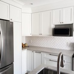 White Modular Kitchen - Custom Cabinetry Oshawa by PCMINC