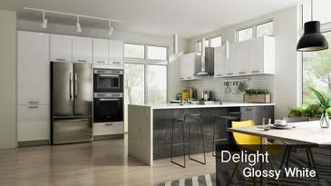 Delight Glossy White - Custom Cabinetry Oshawa by PCMINC