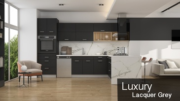 Luxury Lacquer Grey - Custom Cabinetry Oshawa by PCMINC