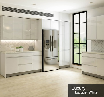 Luxury Lacquer White - Custom Cabinetry Oshawa by PCMINC