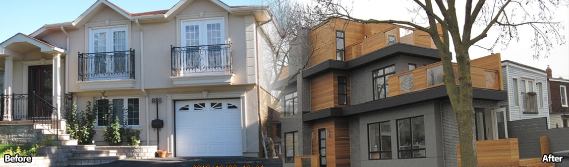 Before and After Residential Renovations by Arnold Homes Ltd - General Contractor Toronto