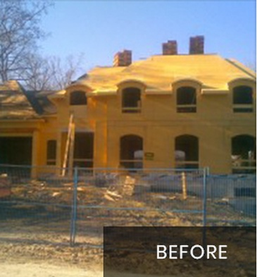 House Before New Home Construction Oakville by Arnold Homes Ltd