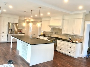 Minimalist Kitchen Renovation Oshawa by Arnold Homes Ltd