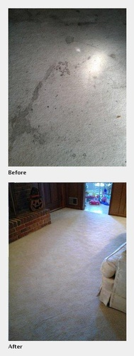 A Carpet with Stains After its Cleaned - Carpet Cleaning Atlanta by Preferred Carpet Cleaning and Floor Care