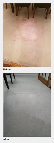 Kitchen Floor Before and After its Cleaned - House Cleaning Alpharetta by Preferred Carpet Cleaning and Floor Care