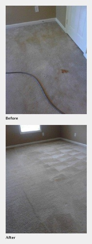 A Carpet Before and After it was Cleaned - Carpet Cleaning Alpharetta by Preferred Carpet Cleaning and Floor Care