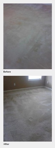 Before and After Cleaning Comparison of a Carpet - Carpet Cleaning by Preferred Carpet Cleaning and Floor Care