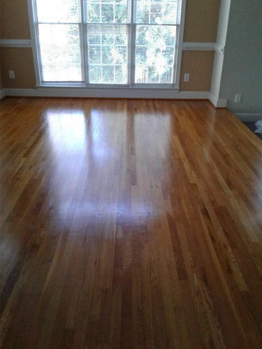 A Clean and Shiny Wooden Floor - Hardwood Cleaning Atlanta by Preferred Carpet Cleaning and Floor Care