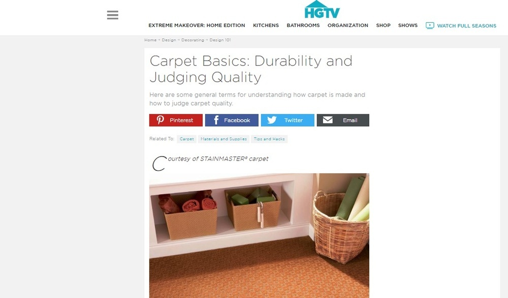 Carpet Basics - Durability and Judging Quality