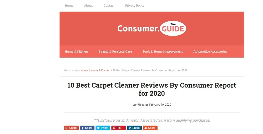 10 Best Carpet Cleaner Reviews By Consumer Report for 2020