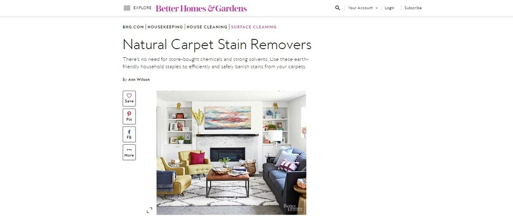 Natural Carpet Stain Removers