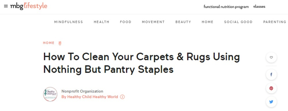 How To Clean Your Carpets and Rugs Using Nothing But Pantry Staples