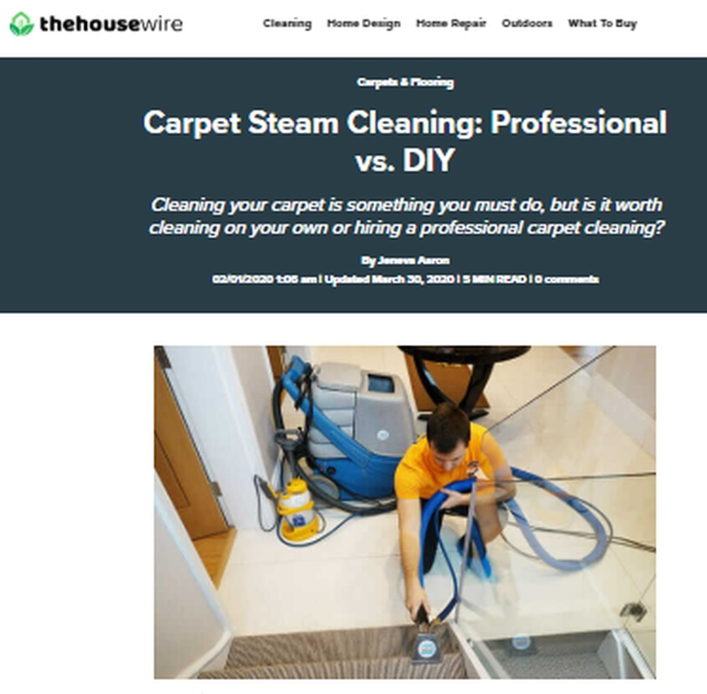 Carpet Steam Cleaning - Professional vs DIY