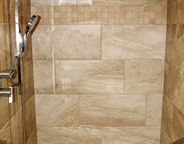Beige Shower Tiles by Bert Vis Flooring Inc - Flooring Company in Smithville Ontario