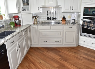 Contemporary Kitchen Hardwood Flooring Installation Niagara Falls by Bert Vis Flooring Inc.
