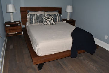Modern Bedroom Hardwood Floor Installation Smithville ON by  Bert Vis Flooring Inc.