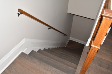 Installing Laminate Flooring on Stairs by Bert Vis Flooring Inc. - Flooring Company in Smithville Ontario