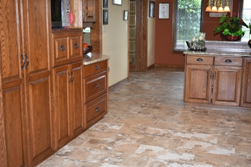 Modular Kitchen with Ceramic Tiles - Flooring Installers Smithville ON