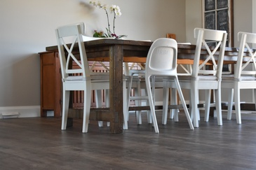 Dining Room Vinyl Flooring Hamilton by Bert Vis Flooring Inc.