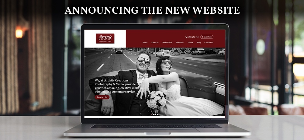Announcing the New Website - Artistic Creations Photography and Video