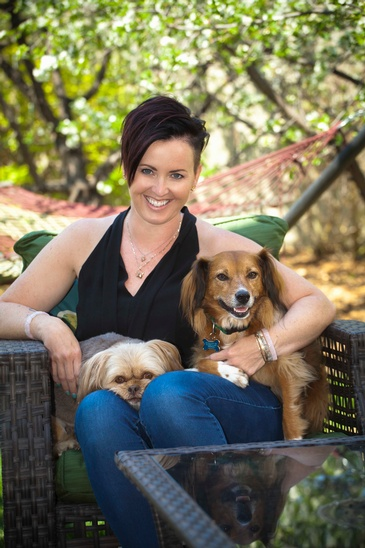Young Lady with 2 Dogs captured by Edmonton Family Photographer at Artistic Creations Photography and Video