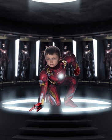 Boy in Iron Man Costume - Children's Fantasy Photography Fort Saskatchewan by Artistic Creations Photography and Video