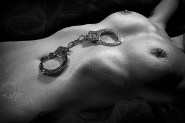 Handcuffs on Nude Woman - Glamour Photography Edmonton by Artistic Creations Photography and Video