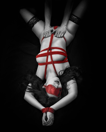Rope Bondage Boudoir Photography Edmonton AB by Artistic Creations Photography and Video