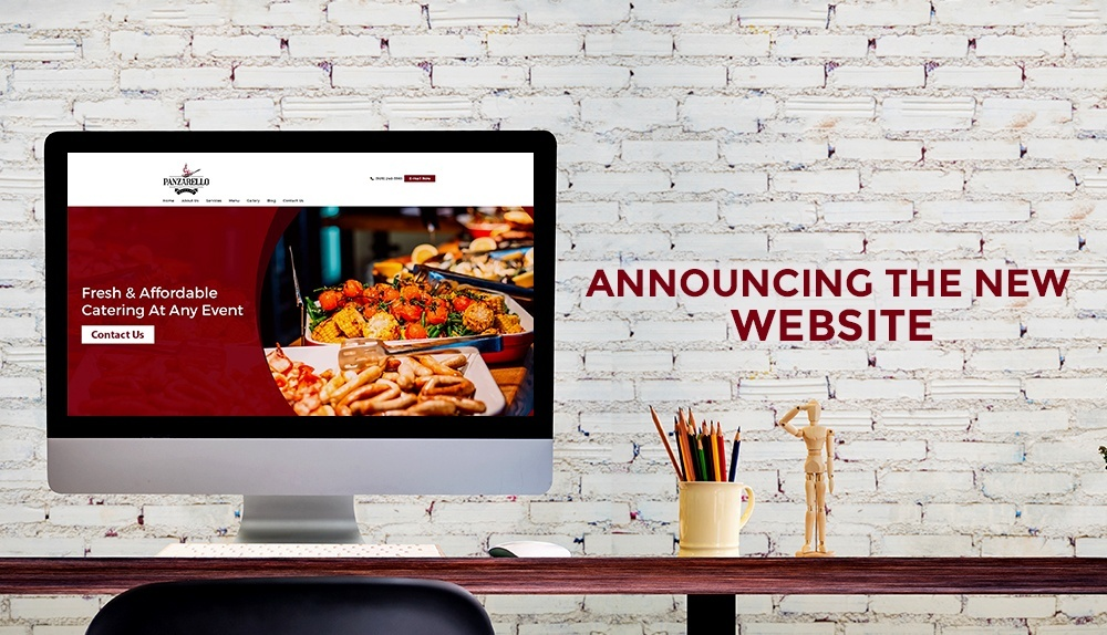 Announcing the New Website - Panzarello Catering