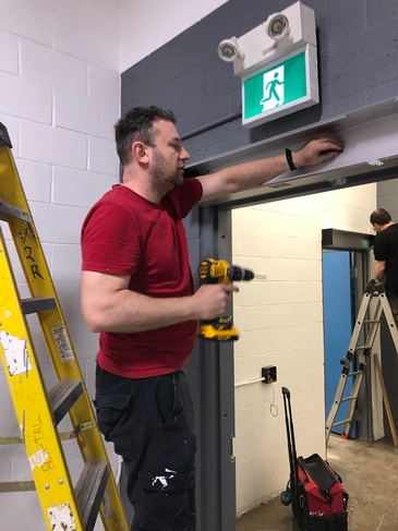 Installing two door operators
