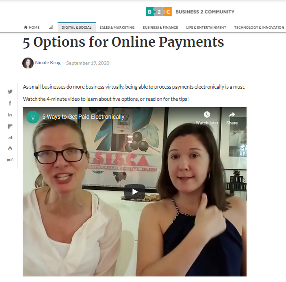 5 Options for Online Payments