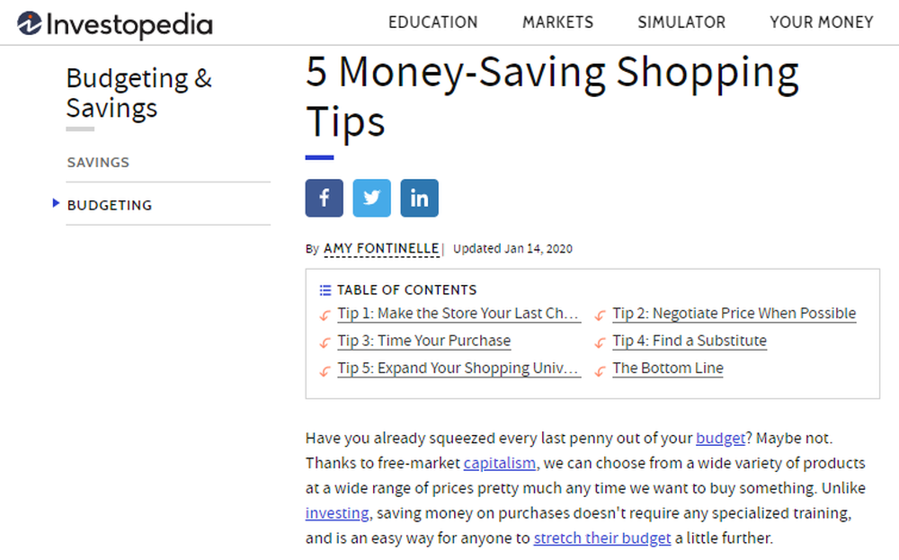 5 Money Saving Shopping Tips by Sopro Market