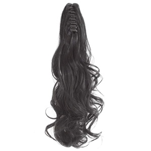 "Qunlinta Ponytail Extension 18"" 20"" Claw Curly Wavy Straight Clip"
