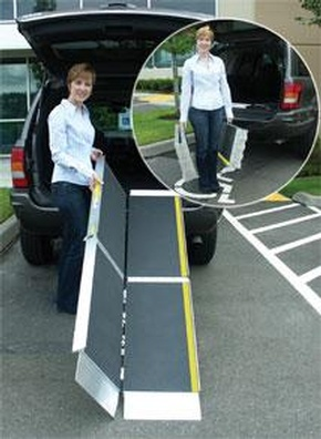 EZ-ACCESS Suitcase Ramp Advantage Series by Access Options Inc - Portable Hayward Wheelchair Ramp
