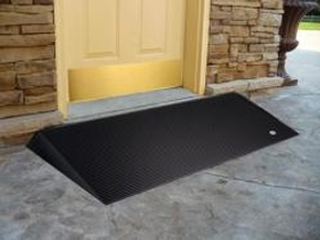 EZ-ACCESS Rubber Threshold Ramp with Beveled Sides by Access Options Inc - Portable Wheelchair Ramp Fremont