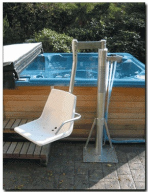The Pool Lift Model AG-48 Above Ground Pool Lift Fremont by Access Options Inc