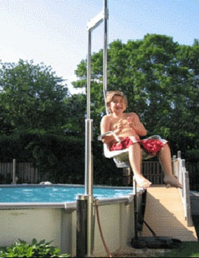 Aquatic Access Inc. Above Ground AG-48 WP Pool Lift Hayward by Access Options Inc