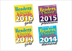 2014 - 2016 Gold and Platinum Readers Choice Awards for Carpet Masters