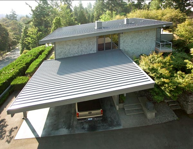 Shed Roof House - Metal Roofing Sammamish by Bellevue Roofing Company, Inc