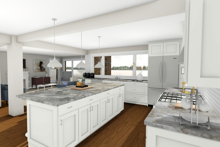 3D architectural rendering Sarnia for Modular Kitchen by Robinson Design and Drafting