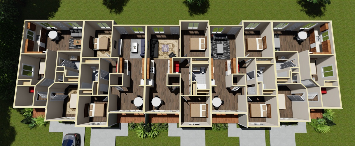 Top View Interior Rendering ontario - Robinson Design and Drafting