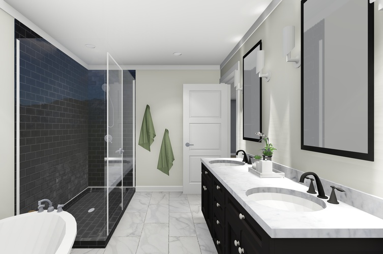 Bathroom Design by Robinson Design and Drafting - Interior 3D Rendering St. Thomas