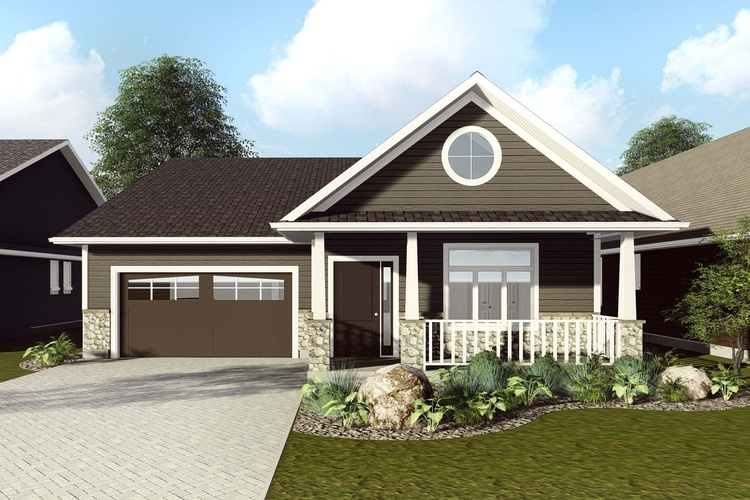 Elegant Bungalow Architectural Design Plan with a Gallery and a big Garden - Robinson Design and Drafting